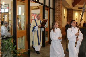Deacon Jerry in the entrance procession